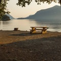 Some camp sites are very large and spacious.- Porteau Cove Provincial Campground