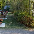 Picnic area for day use.- Porteau Cove Provincial Campground