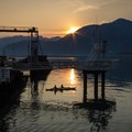 The old ferry dock is a great place to catch the sunset.- Porteau Cove Provincial Campground