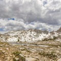 Sliver Pass lies beyond Chief Lake. At 10,900 feet, Silver Pass is the highest point on this section of the JMT.- John Muir Trail Section 2