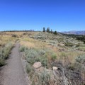 Boca site on a ridge overlooking the Truckee River.- Boca Townsite Trail