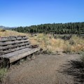 A bench to enjoy the views along the trail to Boca Townsite.- Boca Townsite Trail