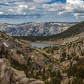 Looking southwest over Heart Lake from Selden Pass.- John Muir Trail Section 2