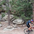 Great rock formations make up the northern sections of trail.- Evergreen Mountain Loop