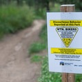 Yeild to all traffic on the trail. There are fines for abusing trail privileges.- Evergreen Mountain Loop