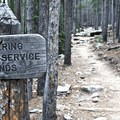 The begining of the Twin Sisters Trail.- Twin Sisters Peak Hike