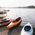A large selection of boats to rent. - Deer Lake Loop Hike