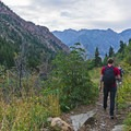 A pair of fishermen heading home along the Lake Blanche Trail.- Lake Blanche Trail
