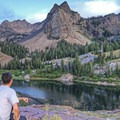 Taking in the view.- Lake Blanche Trail