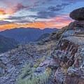 A beautiful sunset from near Lake Blanche.- Lake Blanche Trail