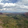 Viewpoint into Henrys Fork Basin from the ridge ascending to Henrys Fork Peak.- Kings Peak