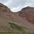 Looking back toward The Chute from Henrys Fork Basin.- Kings Peak