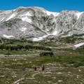 Medicine Bow Peak is the highest point in the range at 12,013 feet.- Lost Lake Trail