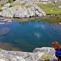 Alpine lake in the Missouri Lakes Basin.- Fancy Pass, Missouri Lakes Loop