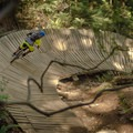 The wall ride on Bobsled.-  Mount Fromme Trails: Lower Fromme Bike Loop