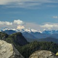 Only a part of the panoramic view.- The Grouse Grind + Goat Ridge