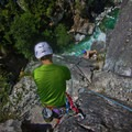 Belaying from the top of the third pitch.- Star Chek Climbing Route