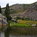 One of many various alpine ponds along the trail.- Fancy Pass, Missouri Lakes Loop