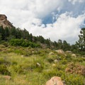 A view of Little Scraggy from the end of the trail.- Little Scraggy Mountain Bike Ride