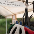 At the South Buffalo Creek Road parking area there are loaner helmets and first aid.- Little Scraggy Mountain Bike Ride