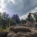 The trail has great rock ledges to inspire confidence and have loads of fun riding.- Little Scraggy Mountain Bike Ride