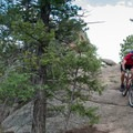 More fun rock to ride.- Little Scraggy Mountain Bike Ride