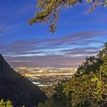 Hiking back down with the city lights leading the way home.- Ferguson Canyon Trail Hike