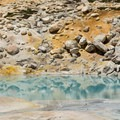 Many different colors are seen in the waters and soils.- Bumpass Hell