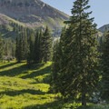 Sugarloaf Mountain (11,050') towers above a great site.- Albion Basin Campground