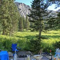 Views in all directions.- Albion Basin Campground