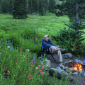 Enjoying the evening.- Albion Basin Campground