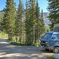 Typical site at Albion Basin Campground.- Albion Basin Campground