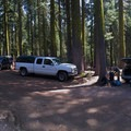 Parking area at the trailhead.- Mount Shasta: Clear Creek Route
