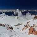 View to the west from the summit.- Mount Shasta: Clear Creek Route