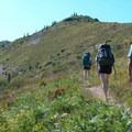 Hiking toward Bear Pass.- Mount Margaret Backcountry Lakes