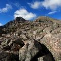 Ascending the north ridge toward the false summit.- Mount of the Holy Cross, North Ridge Route