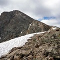 Traversing the ridge. - Mount of the Holy Cross, North Ridge Route