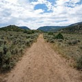 A flat, wide trail takes hikers to the hot springs.- Radium Hot Springs