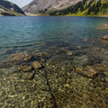 Crystal clear water.- Ring Lake Trail