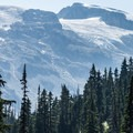 Beautiful views of Solitude Glacier on the northern edge of the Brandywine Ice Cap.- Ring Lake Trail