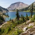 Enjoying one last look at Ring Lake.- Ring Lake Trail