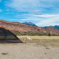 Camping out in a grand landscape.- Ken's Lake