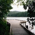 Section of the boardwalk with a great view. - Sasamat Lake