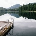 A great spot to jump into the deep water off of the dock. - Sasamat Lake