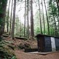 A convenient washroom located at the far end of the lake. - Sasamat Lake