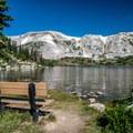 Tranquil Lewis Lake.- Medicine Bow Peak via Lewis Lake Trailhead