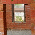 Old brick building.- Eckley Pier
