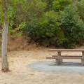 Picnic tables.- Eckley Pier