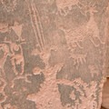 Along with the animal images are those that are more human-like.- Moonflower Petroglyphs