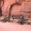 The entrance to Moonflower Canyon petroglyphs.- Moonflower Petroglyphs